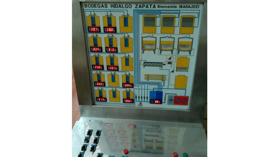 Panel de Control de los depósitos de Bodega Hidalgo